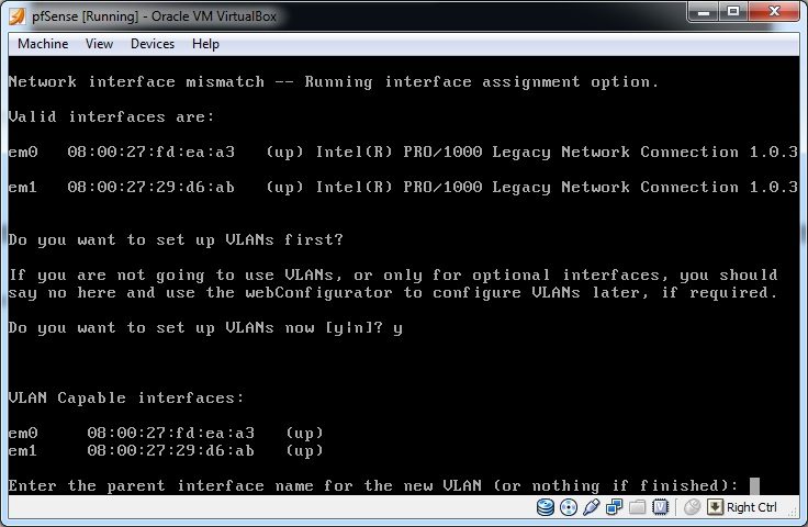 Protect Windows with pfSense and VirtualBox  Part 5: Configuring